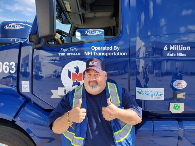 Roger Daily has racked up 6 million safe miles as a driver for NFI