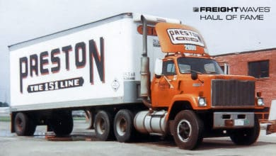 "A Preston Trucking Co. truck displays its ""The 151 Line"" motto. (Photo: Gary Morton Collection)"