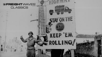 One of the Red Ball Express signs along the Red Ball route. (Photo: Army.mil.com)