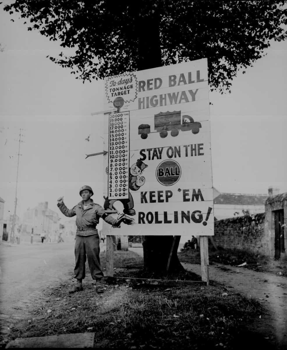 One of the signs along the route of the Red Ball Express. (Photo: Army.mil.com)