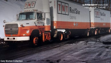 A TNT Red Star Express tractor-trailer. (Photo: Gary Morton Collection)