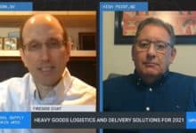 Deliveright's Doug Ladden and Accentrics Home's Kevin Walker at FreightWaves' GSCW