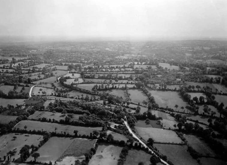 An aerial view of French hedgerows. (Photo: public domain)