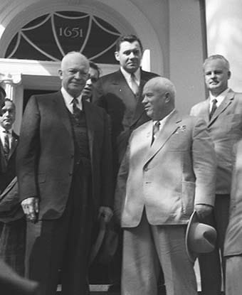 A photo of President Eisenhower and Nikita Kruschev, leader of the Soviet Union. (Photo: nps.gov)