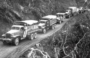 A Red Ball Express convoy. (Photo courtesy of African American Registry.org)