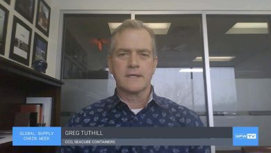 Greg Tuthill, chief commercial officer of SeaCube Containers, discusses the market for refrigerated shipping containers during the FreightWaves Global Supply Chain Week
