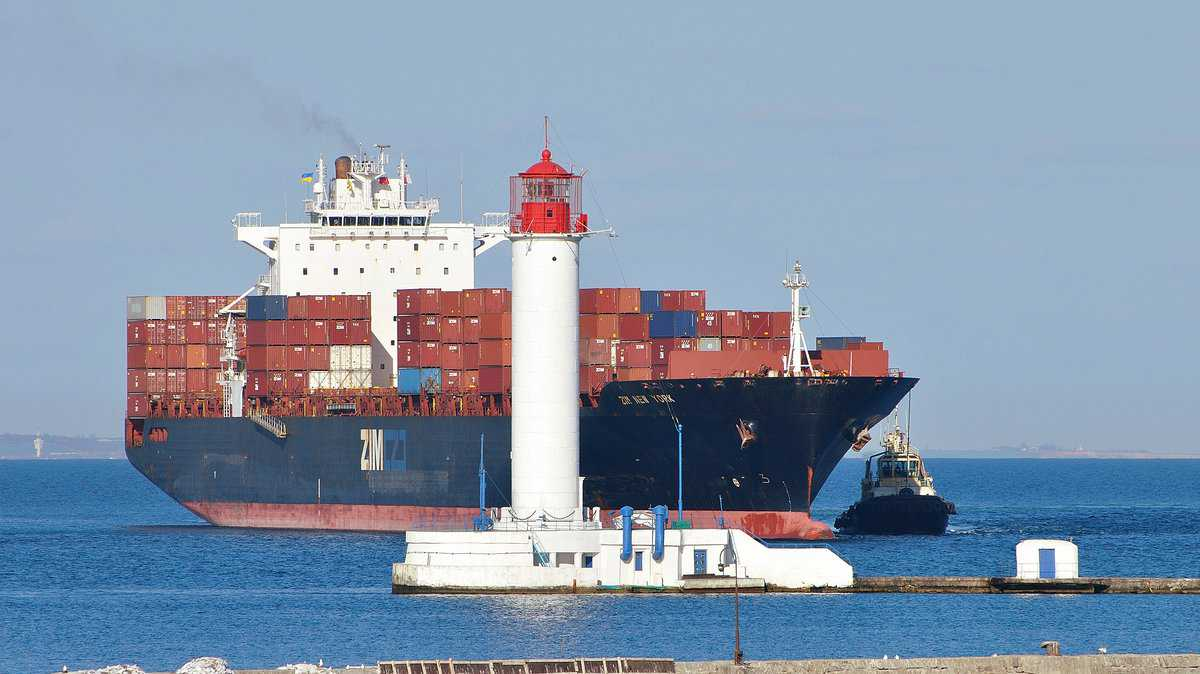 Zim container ship