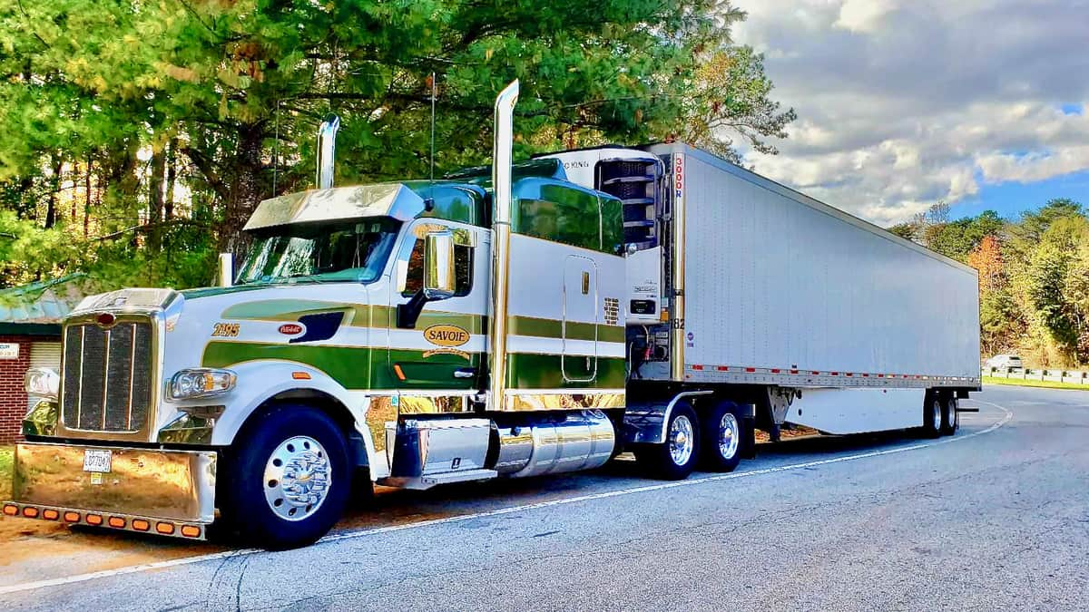 A tractor-trailer of Transport Savoie. XTL group has acquired the carrier.