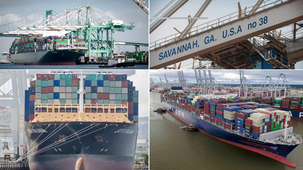 container shipping ports