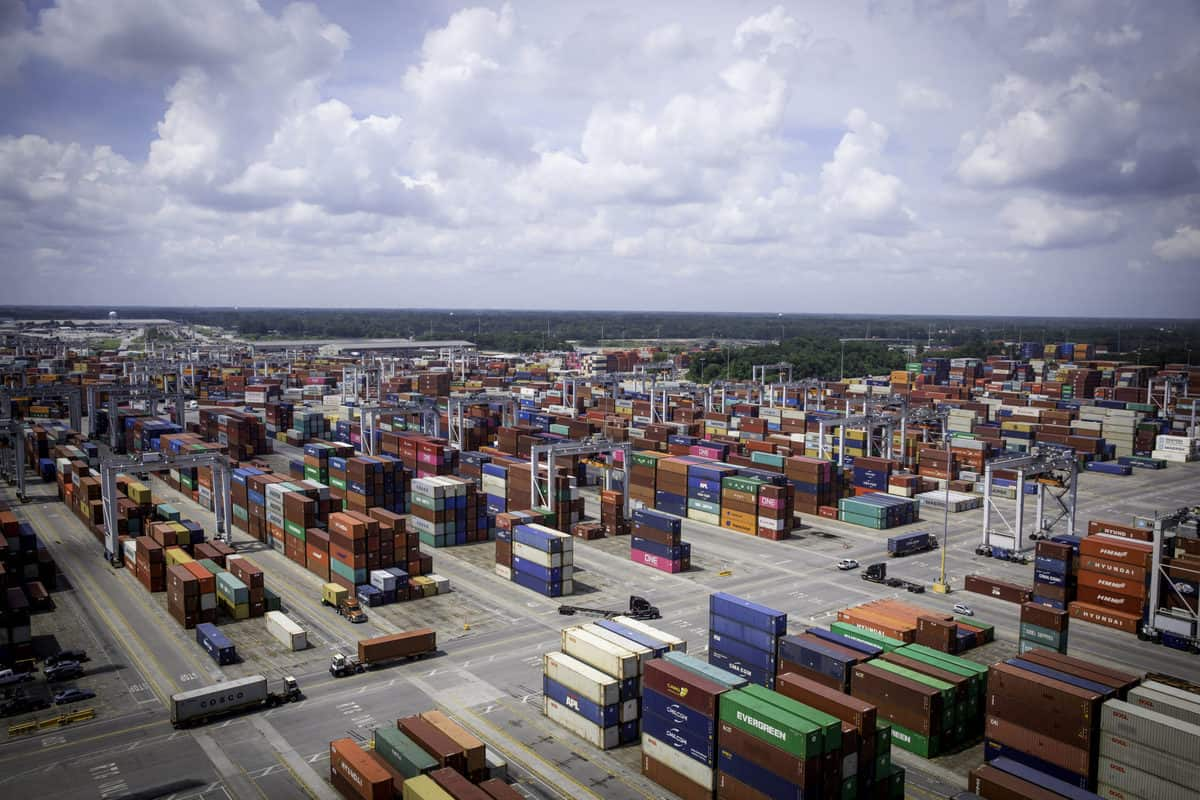 The Port of Savannah's Garden City Terminal. (Georgia Ports Authority/Emily Goldman)