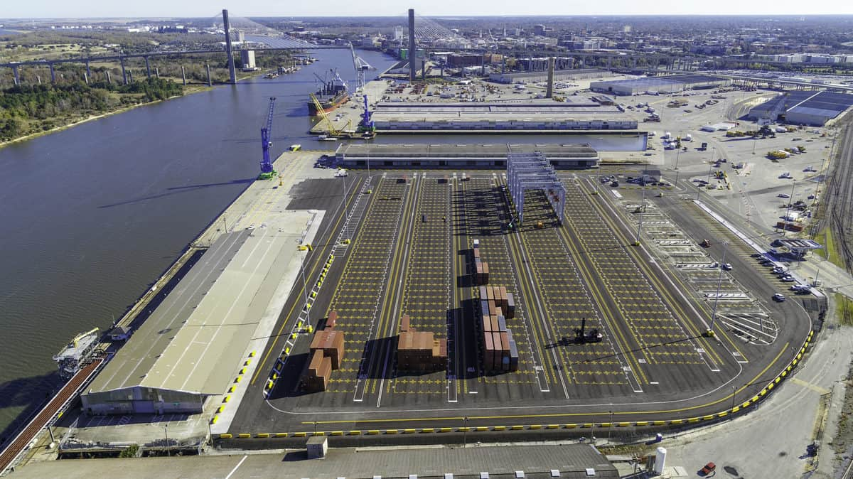 The GPA's Ocean Terminal. (Photo: Georgia Ports Authority)