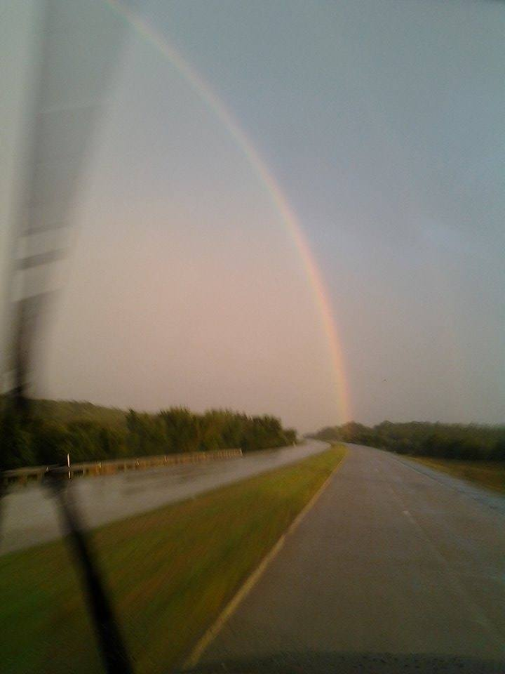 An Irish Express photo, complete with rainbow. The pot o' gold is always over the horizon, but trucking provides a good living for many of us... (Photo: Irish Express, Inc.)