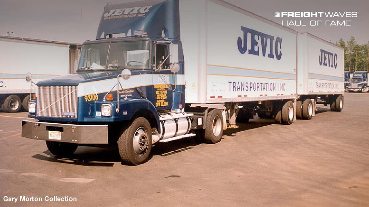 A Jevic Transportation tractor-trailer. (Photo: Gary Morton Collection)