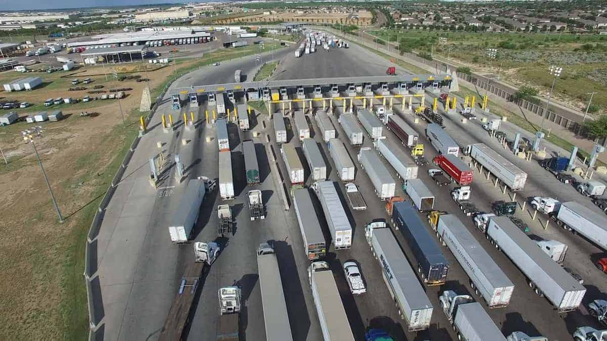 As many as 8,000 commercial trucks a day cross both of Laredo's two bridges, carrying everything from cars, auto parts and produce to electronics and medical equipment. (Photo: U.S. Customs and Border Protection)