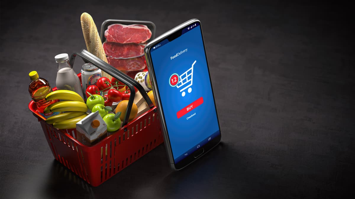 Online grocery shopping falls in February