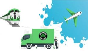 An image from the Shamrock Express website that explains its services visually in a very easy to understand way.