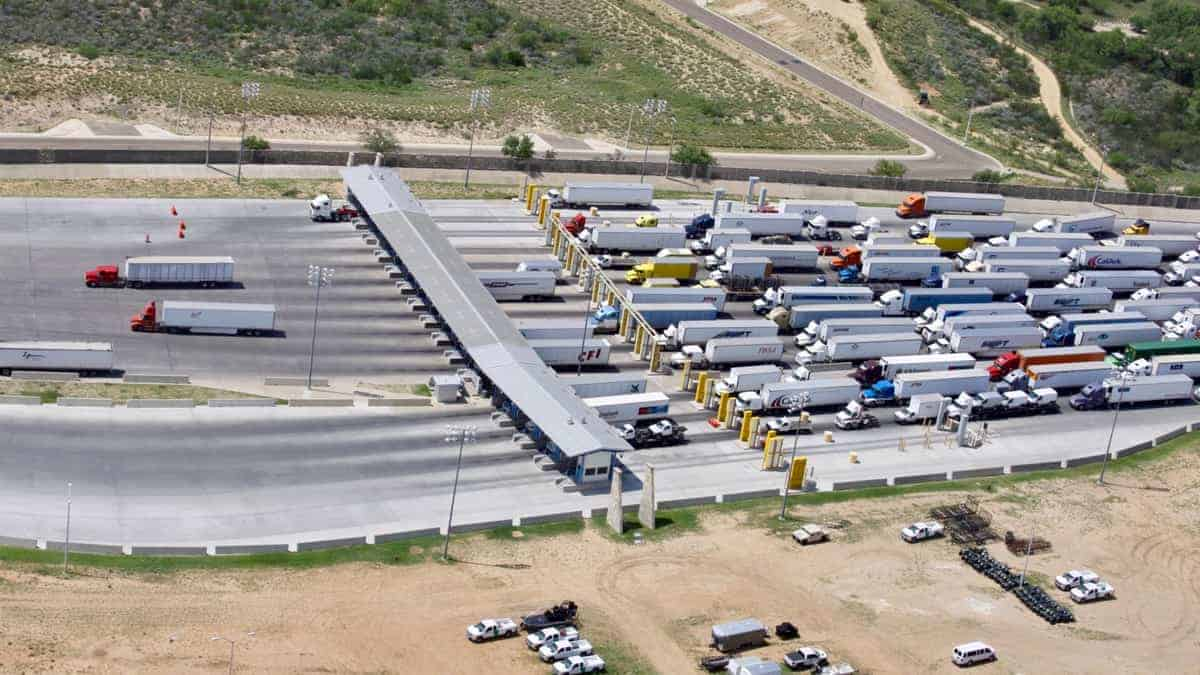 An aerial view of the World Trade International Bridge of the Port of Laredo. (Photo: U.S. Customs and Border Protection)
