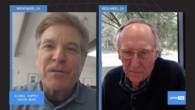 Jack Dangermond, founder and president of ESRI, with Jonathan Rosenthal, speaking in a video chat at FreightWaves Global Supply Chain Week.