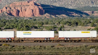 Intermodal segment most impacted by bad weather