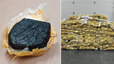 Pictures of opium seized in a drug bust at the Port of Vancouver.