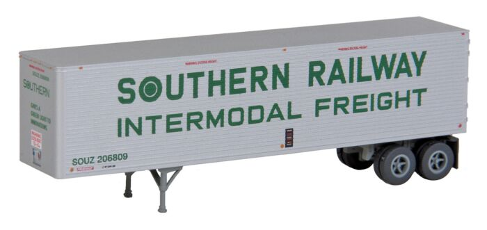 A model of a Southern Railway/Georgia Highway Express intermodal trailer. (Image: Walthers)
