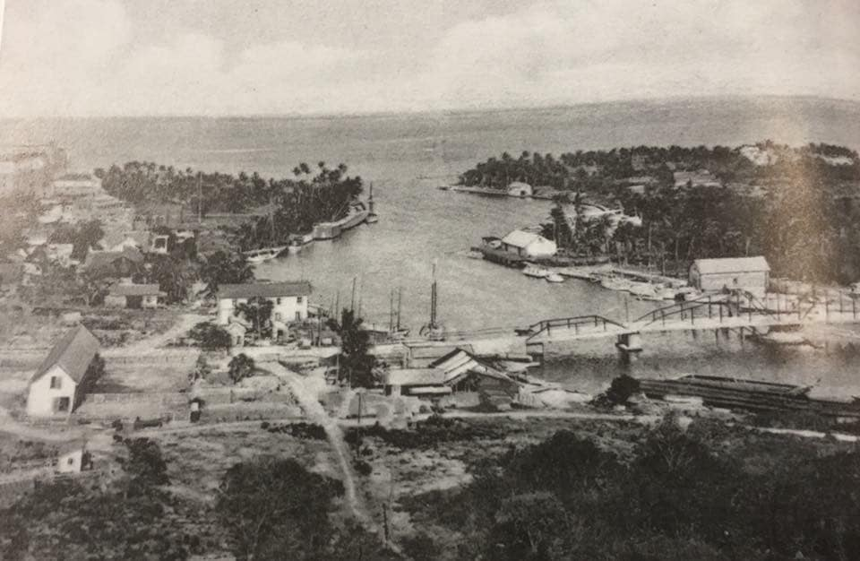 Early 1900's photo of the mouth of the Miami River & Biscayne Bay.