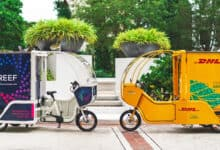 Companies like REEF Technology and DHL are deploying an increasing number of e-cargo bikes for last-mile delivery.