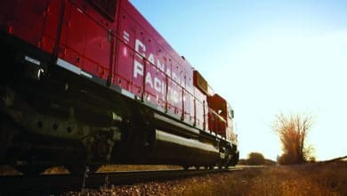 A photograph of a Canadian Pacific train.