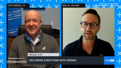 Bobby Healy and Kevin Hill at the DroneWaves Summit