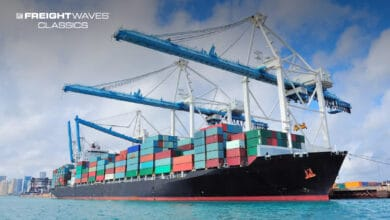 A cargo ship being unloaded at PortMiami. (Photo: Shutterstock)