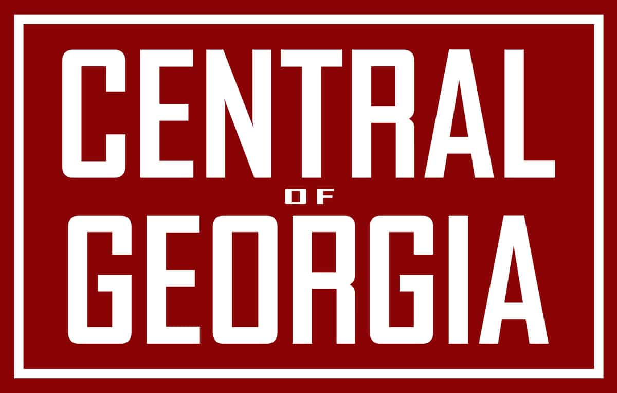 The Central of Georgia logo in red and white.