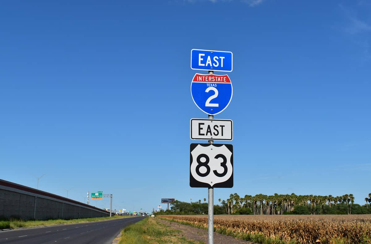 Signs for Interstate 2 and US Highway 83. (Photo: Federal Highway Administration)