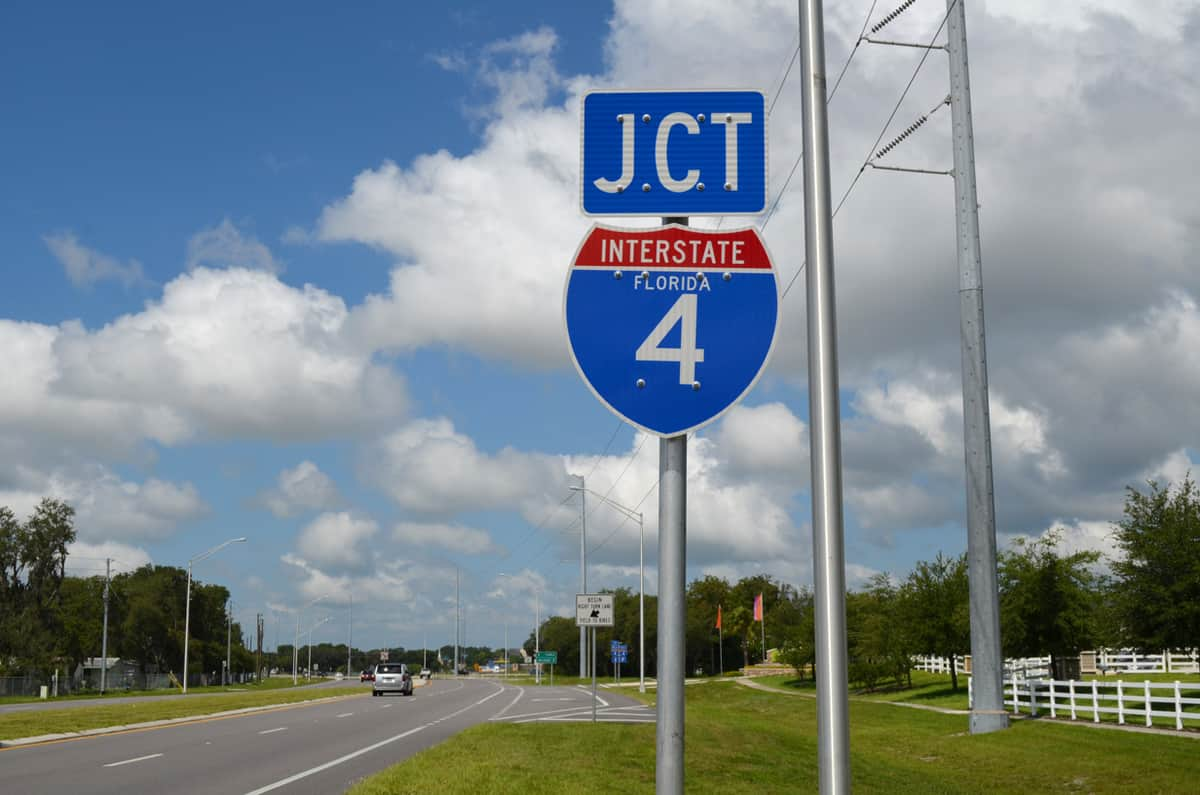 A marker for Interstate 4. (Photo: Interstate-Guide.com
