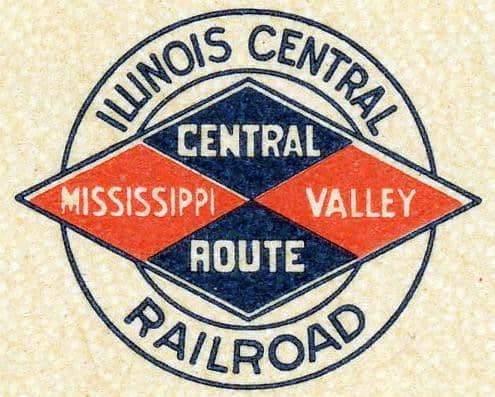 The Illinois Central Railroad logo in 1907. (Image: Illinois Central Railroad Historical Society)