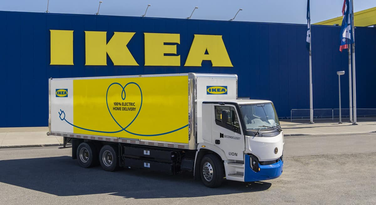 IKEA to add Lion Electric electric trucks to delivery fleet