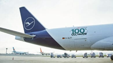 Lufthansa Cargo and DB Schenker launched a carbon-neutral flight route.