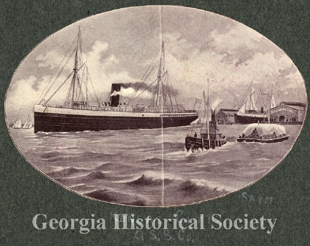 An advertisement for the Ocean Steamship Line. (Image: Georgia Historical Society)