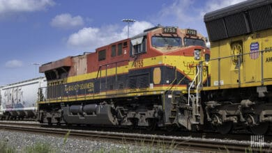 A photograph of a Kansas City Southern locomotive.