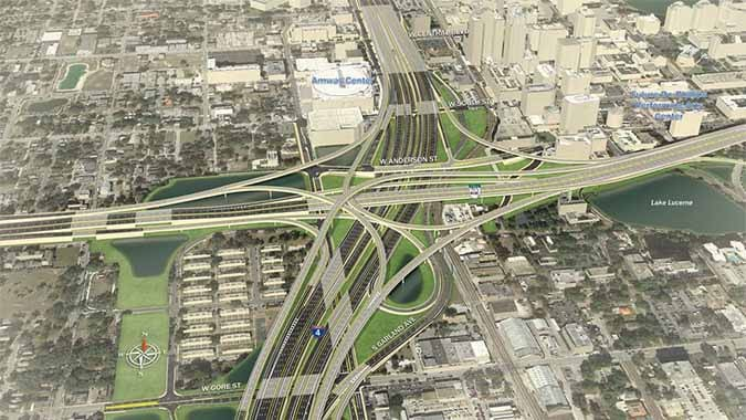 An aerial view of I-4 in Orlando. (Photo: Florida Department of Transportation)