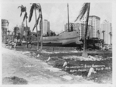 Miami after the 1926 hurricane. (Photo: Hurricanes: Science and Society)