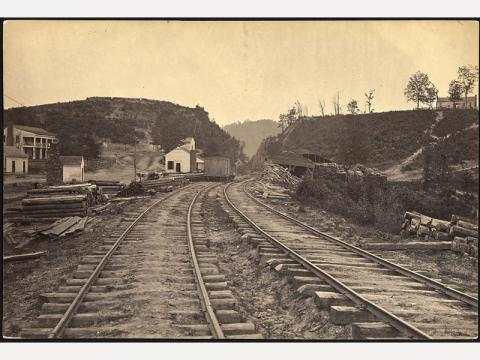 During the Civil War, the railroad's infrastructure wore out and could not be replaced. (Photo: New Georgia Enclyclopedia)