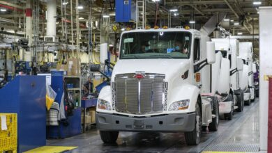 Day cabs roll off Peterbilt assembly line in Denton, Texas