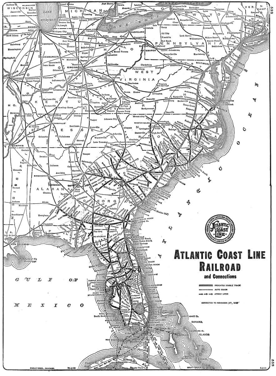 An ACL System map from 1940. (From the Adam Burns Collection)