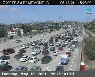 A recent photo of traffic along a section of i-8 in San Diego. (Photo: Caltrans)