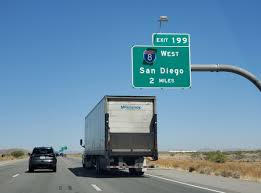 A truck approaches an entrance to I-8 West. (Photo: interstateguide.com)