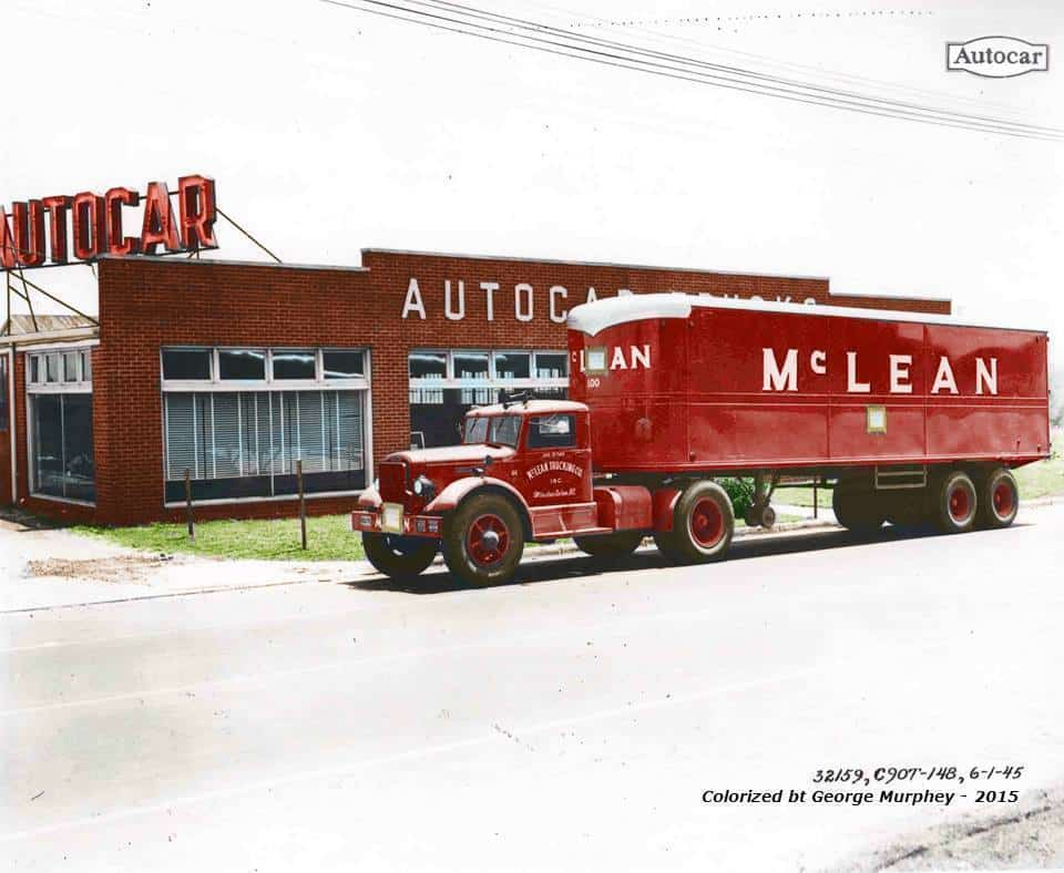 An early McLean Trucking rig. (Photo: Autocar; colorized by George Murphey)