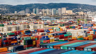 The Port of Oakland with the city of Oakland in the background. (Photo: Port of Oakland)