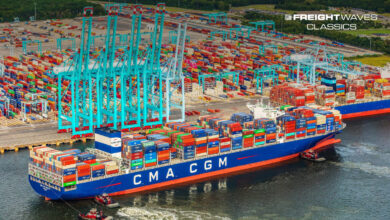 The Port of Virginia berths a container ship. (Photo: Port of Virginia)