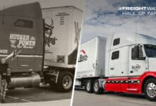 A Hill Brothers Transportation truck then and now. (Photo: Hill Brothers Transportation)
