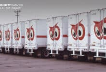 A number of Red Owl trailers stand ready to be loaded with groceries. (Photo: @RedOwlMemories/Facebook)